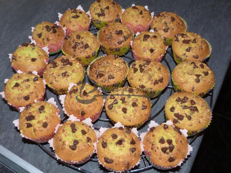 Muffins pistache coeur chocolat