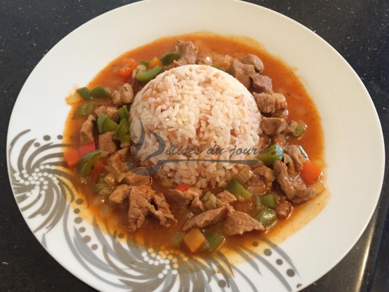 Veau mijoté et riz pilaf