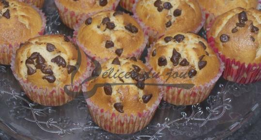 Muffins aux Pépites de chocolat et coeur Nutella