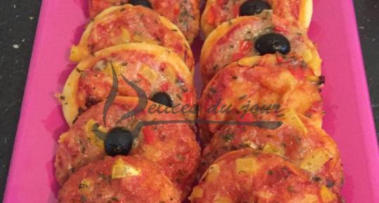 Mini pizza aux poivrons
