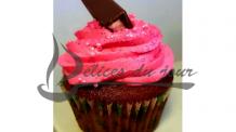 Cupcake fraise chocolat